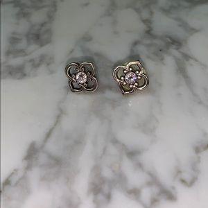 Jewelry - Crystal & silver earrings